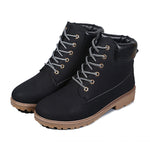 Fashion Men High Top Winter Boots Leather Waterproof Combat Hiking Work Ankle Shoes 7 Size 4 Colors