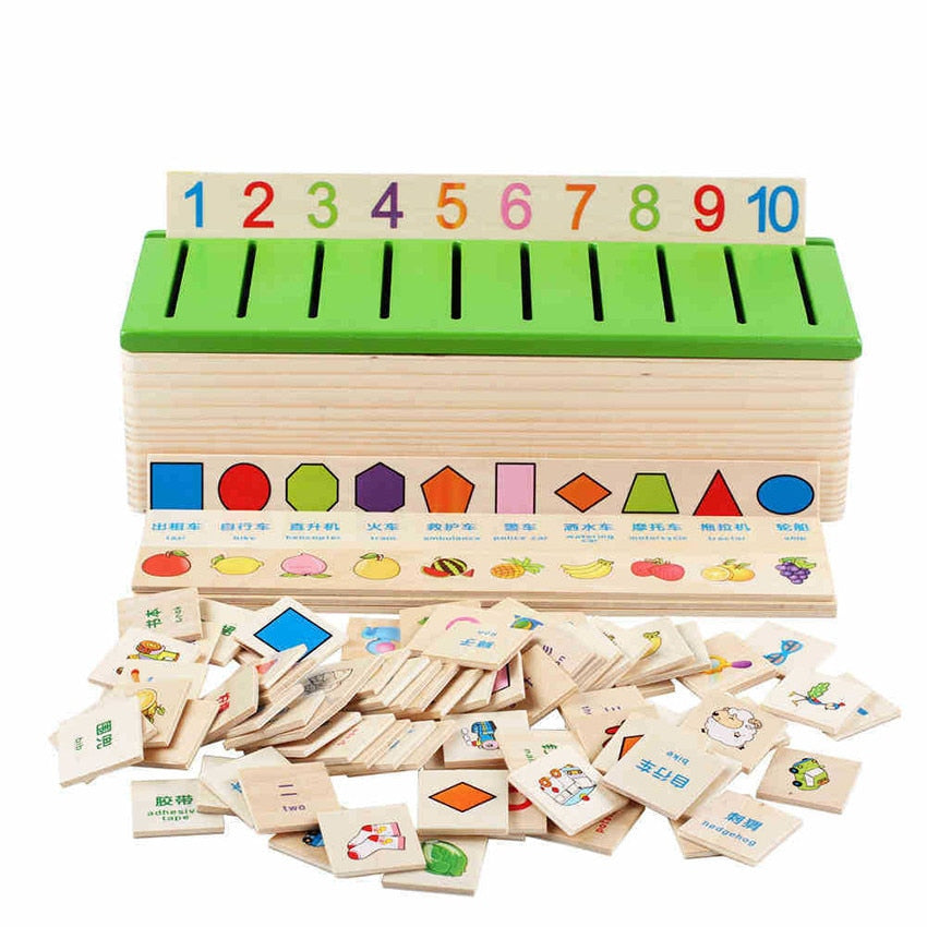 Wooden Montessori Educational Learning Toy Set