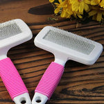 Cat brush comb hair Cat Dog Pet Square Head Needle Protection Soft Rubber Non-Slip Handle Cushion With Beauty Comb Supplies Cats
