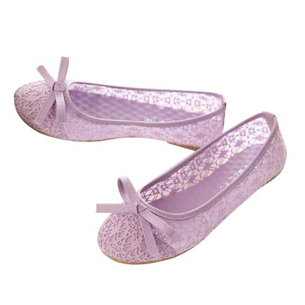 Women's Slip-On Bowknot Lace Soft-Soled Thin Shoes