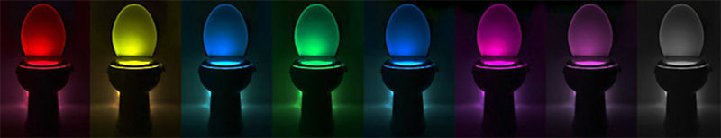 8 Colors LED Toilet Night light Motion Activated LED Sensor