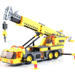 KAZI 380pcs City Crane Series Building Blocks DIY Model Block Educational Toys Learning Education Bricks Child Gifts