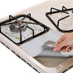 4 Pack: Reusable Non-Stick Foil Stove Top Liner