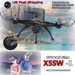 Phoota FPV Quadcopter 4 Axis WIFI Cameras Wireless Video Drone 2.4Ghz RC RTF Explorer Quadcopter Camera Helicopter Black