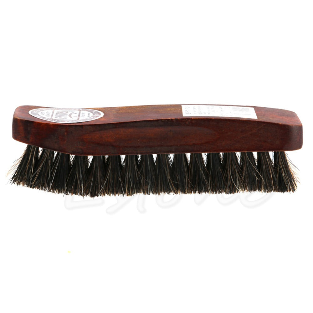 Practical Horse Hair Professional Shoe Shine Polish Buffing Brush Wooden New brown shoe brush home cleaning tools Sneakers Shoe
