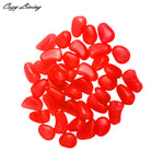 Luminous Stones Fish Tank Aquarium Decor 100 PCS Glow In The Dark Stones Pebbles Rock For Fish Tank Aquarium D27
