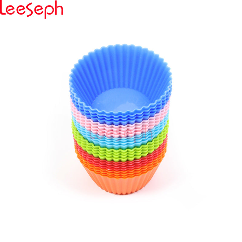 24 pack Round Shaped  Silicone Cake Molds