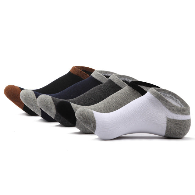 5 Pack: Men's Casual Cotton Ankle Socks