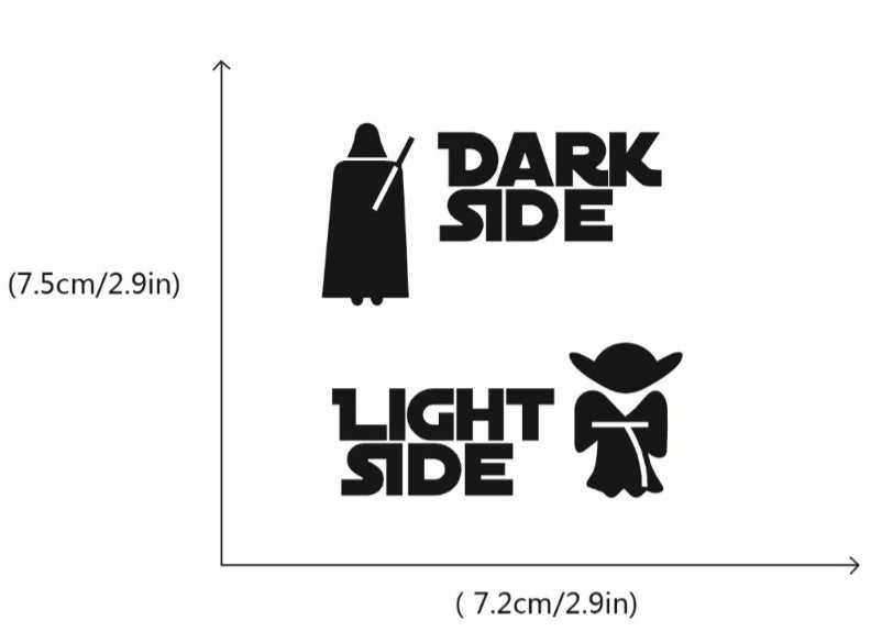 "Star Wars ""Dark Side, Light Side"" Light Switch Sticker"