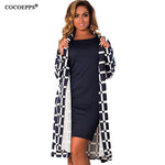 L-6XL women Plaid trench coat big size NEW Autumn winter plus size women large size coats overcoat Long sleeve Female cardigan