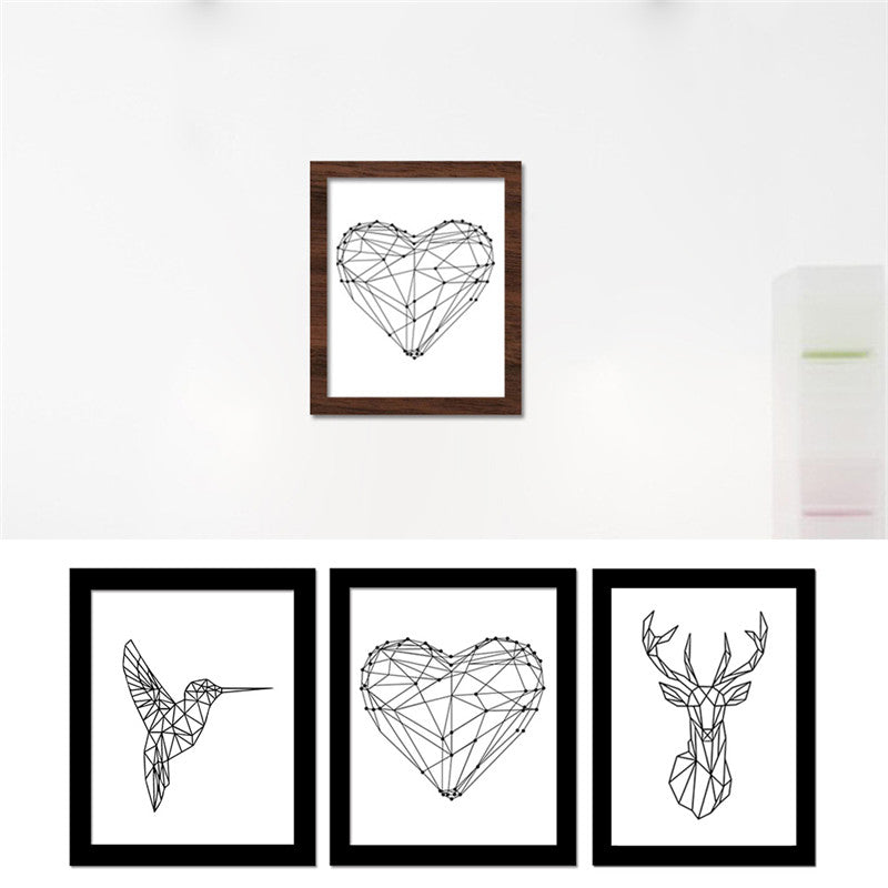 Creative Geometric Canvas Frameless Art Print