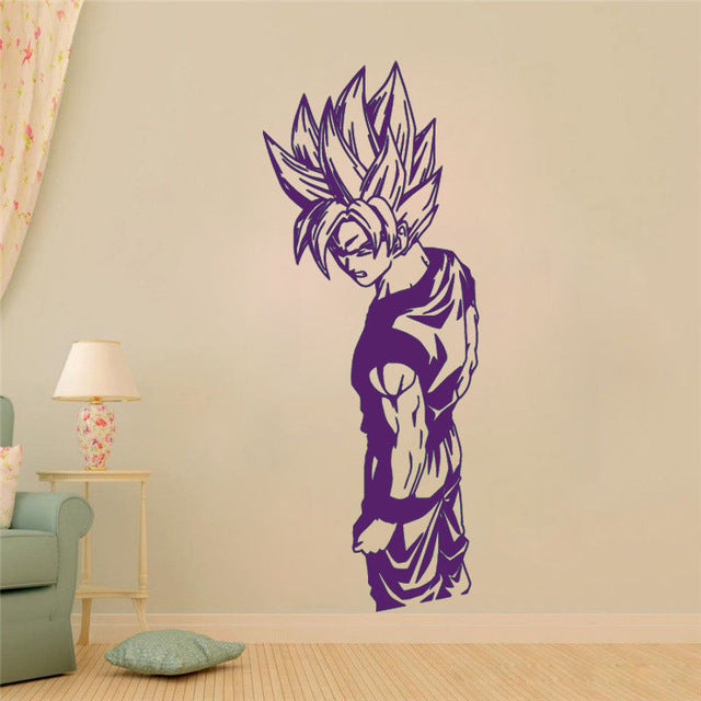 Removable Goku Super Saiyan Dragon Ball Wall Sticker Home Decor Room Interior Home Wall Decal Art Vinilos Wall Mural NY-422