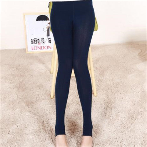 Step On The Foot Autumn Winter Women's Pants Warm Pants Fitness Step Foot Female