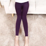 Fashion Solid Woman Casual Winter Warm Pants Stretched Good Quality Elastic Thick Trousers Female