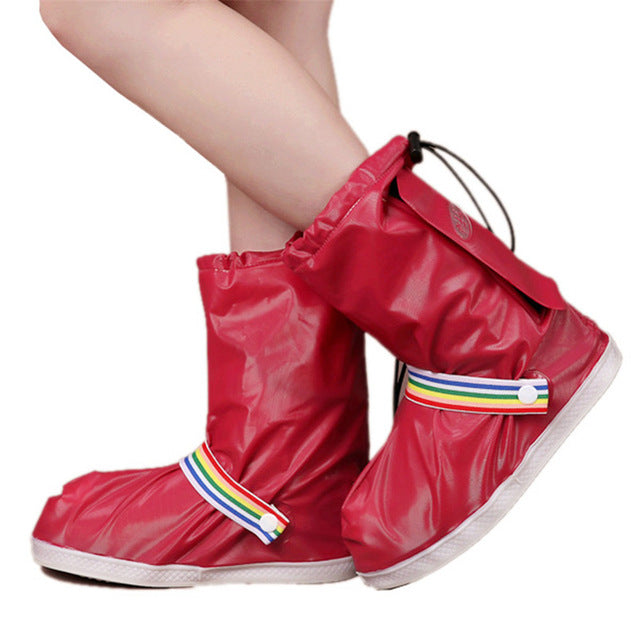 JACKSHIBO Fashion Waterproof Shoe Covers Men&Women's&Children Rain Cover for Shoes Outdoor Use Shoes Accessories