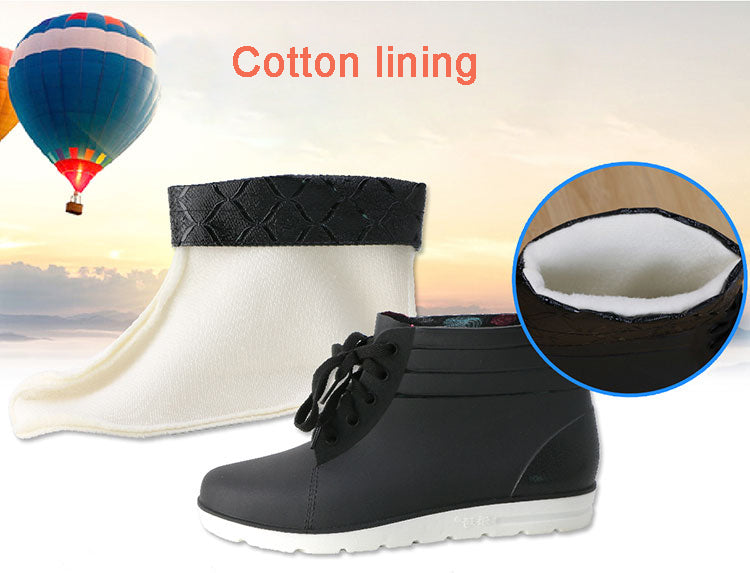rubber rain boots men light low slip fishing boots short rubber rainboots man bot garden galoshes