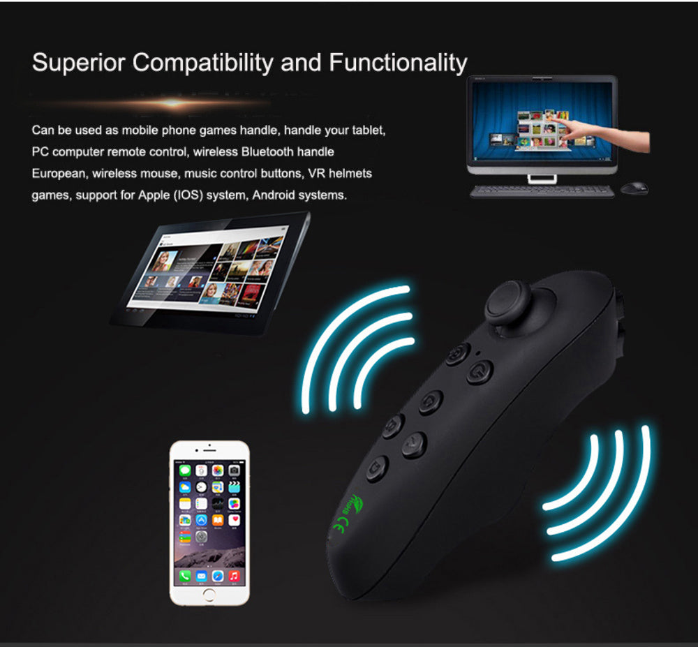 VRPARK Virtual Reality 3D VR Glasses Gamepad Game Joystick Bluetooth Remote Controller for Android iPhone IOS Smartphone Phone
