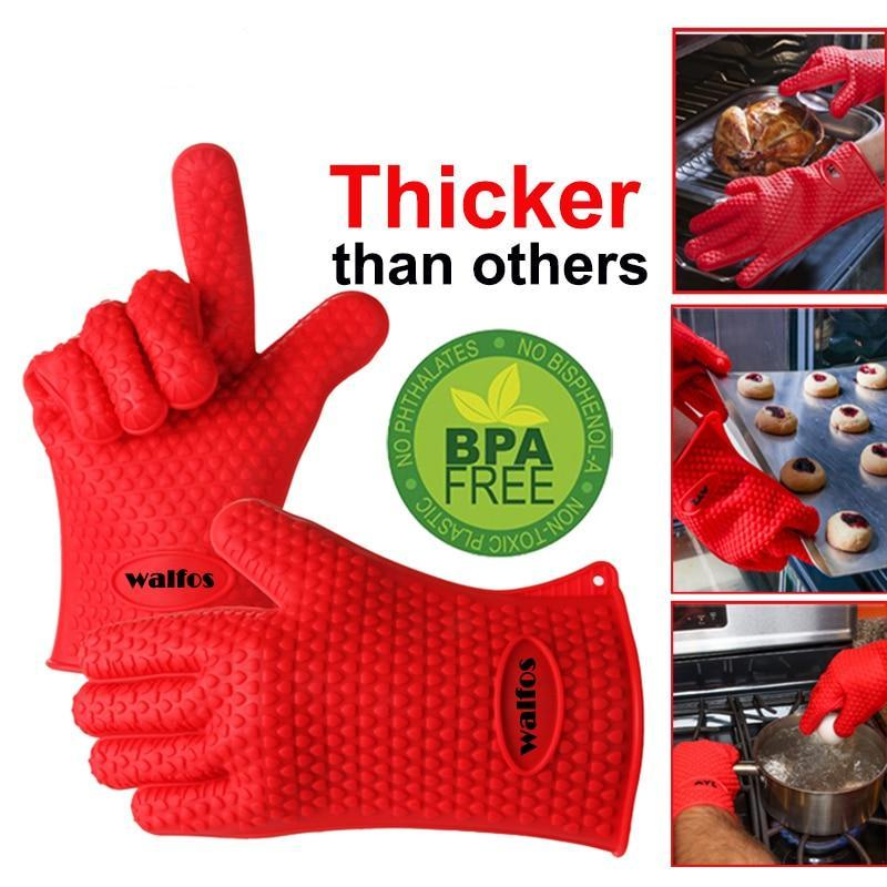 Silicone Heat Resistant BBQ Grill Gloves