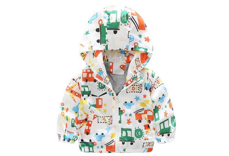 New Summer & autumn children jackets casual hooded kids outerwear/coats 1-7T blue and whith style jackets for boys CQ03