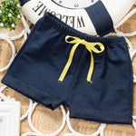Summer thin children wear shorts Boy baby and girl 5 pants Solid color cotton 1-4 year old children's leisure pants