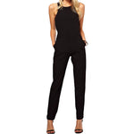 summer sexy women Jumpsuit Romper lady Sleeveless bodysuit playsuit womens Black Trousers long pants in womens clothes