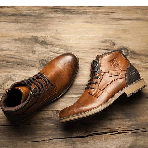 Men's Vintage Style High-Top Boots