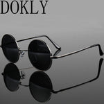 fashion show style glasses real Polarized sunglasses vintage sunglass round sunglasses UV400 Black lens
