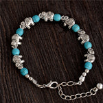 Fashion Bohemia Stylish Shiny Elephant Shape Resin Beads Charm Bracelet Handmade Accessories Fashion Jewelry