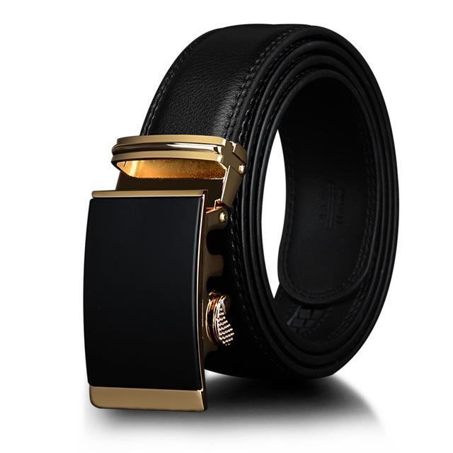 Men's Luxury Metal Automatic Ratchet Leather Belt