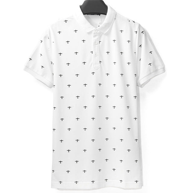 Cotton | Casual | Collar | Sleeve | Short | Shirt | Print | Polo | Men