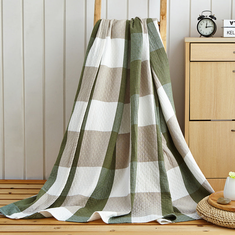 Ultra-Soft Cotton Plaid Blanket