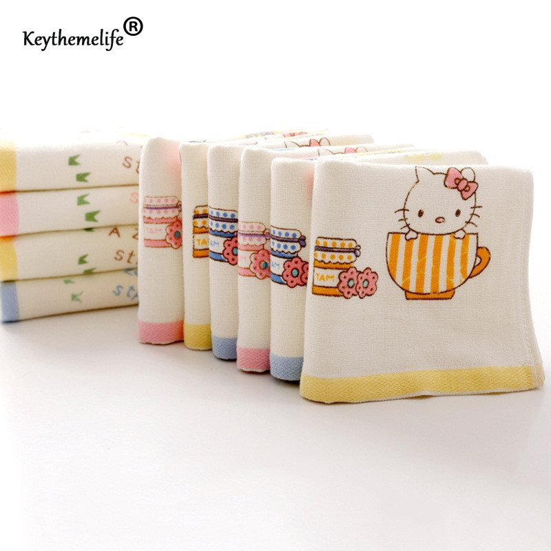 High quality Hello kitty Face Towel Soft Cotton Skin-friendly Material Absorbent For Face Hand Towels 2D