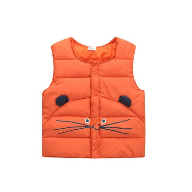 Children of winter Autumn jacket child down from vest cotton vest outerwear winter baby girls boys vest