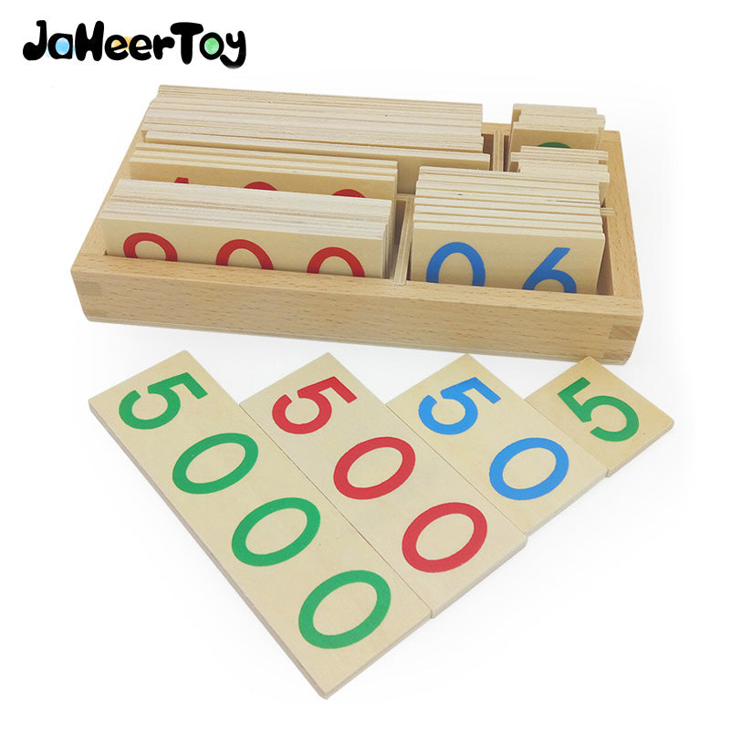 JaheerToy Math Toys Montessori Teaching Aids Educational toys for Children Thousands Hundreds Ten Single Digit Digital Cognition
