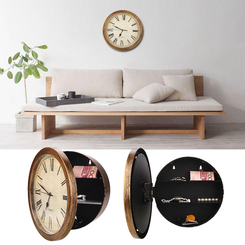 Secret Safe Box Wall Clock
