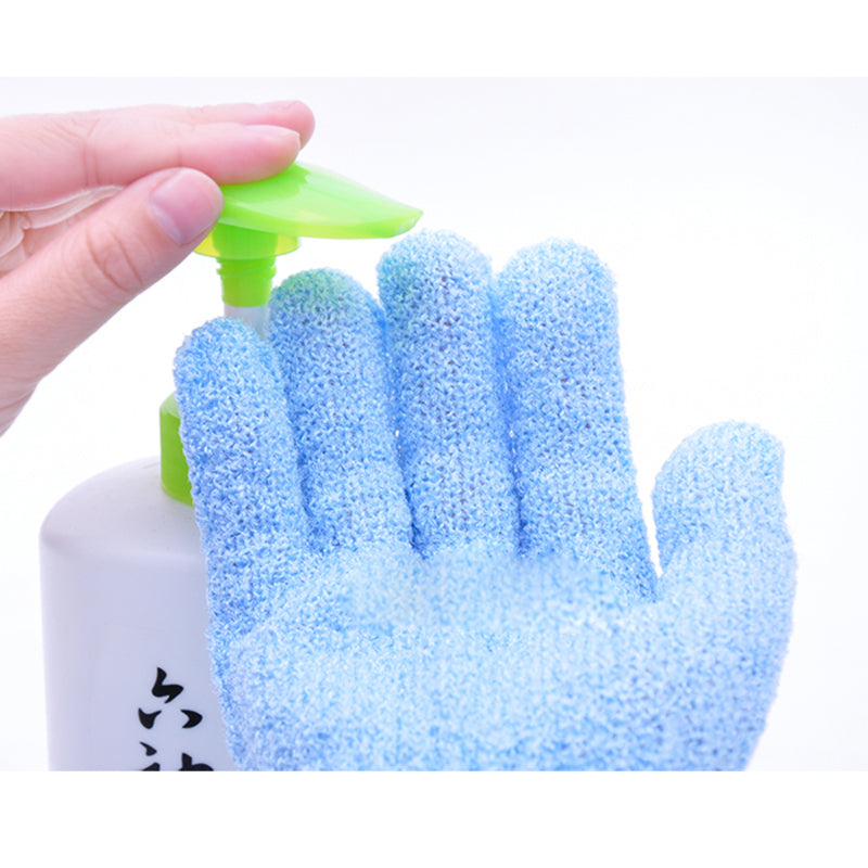 2PcBathroom Accessory Bath Gloves Shower Scrubber Exfoliating Back Scrub Bath Glove Exfoliating Gloves Massage Sponge For Shower