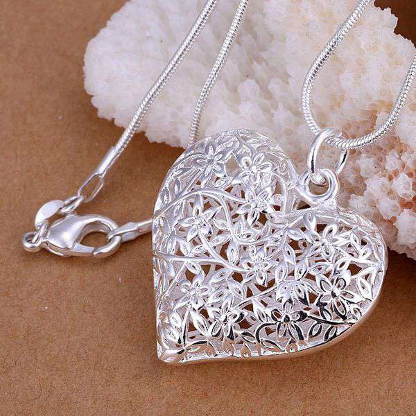 Necklace | Fashion | Jewelry | Pendant | Flower | Silver | Plate | Top