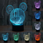 3D Creative Acrylic Mickey Mouse LED Night Light Table Lamp