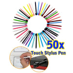 50pcs For PC  Colorful Touch Stylus Pen For Nintendo DS Lite (Random)