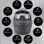 Airsoft Breathable Full Face Mask with Goggles Neck Protector Tactical Outdoor Hungting Military Wargame Masks Gear Accessories