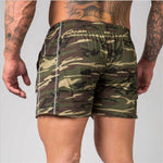 YEMEKE Summer Casual Shorts Men Slim Fit Printing  Size Bottom Knee Length Brand Clothing Gray, black, the camouflage
