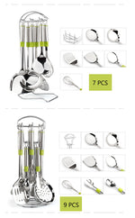 7 PCS/Set High Grade Stainless Steel Kitchen Utensils Cookware Sets Household Full Set Of Cook With Comfortable Handle CK0005