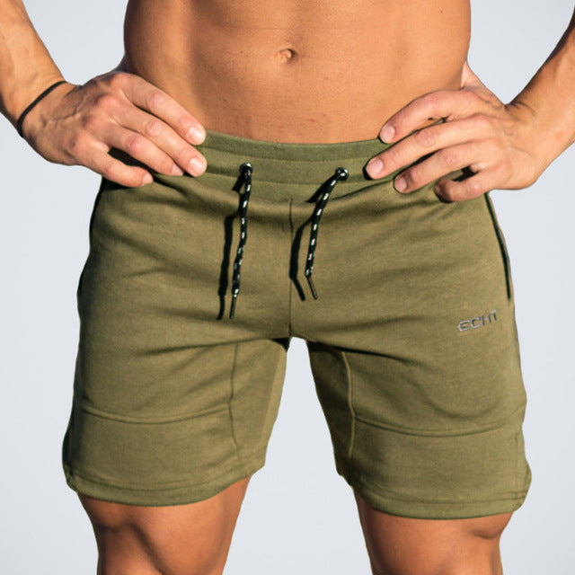 Men's Summer Cotton Comfort Drawstring Fitness Shorts