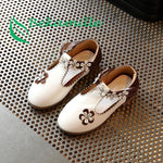 Autumn New Children girls shoes flower princess shoes Kids diamond baby girls single shoes 21-30 infantil sandals