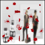 Blood Spatter, Handprint & Footprint Window & Mirror Stickers