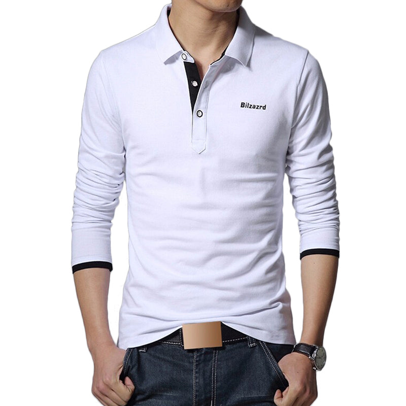 Men Polo Shirt Brand Fashion Long Sleeve Solid Polos Shirts Camisa Polo Masculina Tops Tees Plus size 5XL Mens Clothing