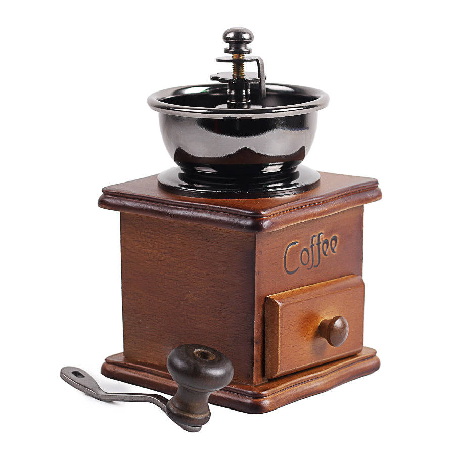Wooden Retro Manual Hand Crank Coffee Bean Grinder