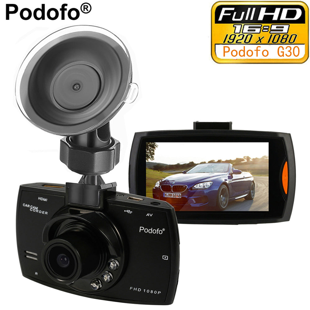 "Full HD 1080P 2.7"" Dashboard Camera Recorder with Motion Detection & Night Vision G-Sensor"