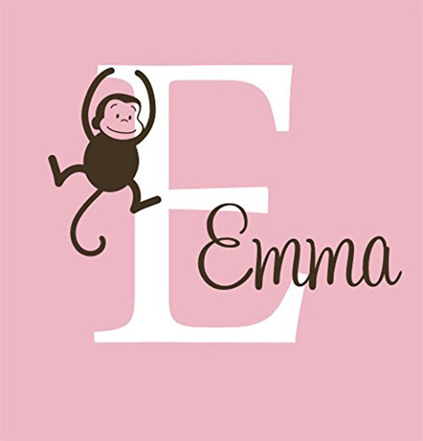 YOYOYU Personalized Name Baby Nursery Room Wall Sticker Custom Name For Girl and Boy Wall Decal Nursery Mural Poster Decor  W-27