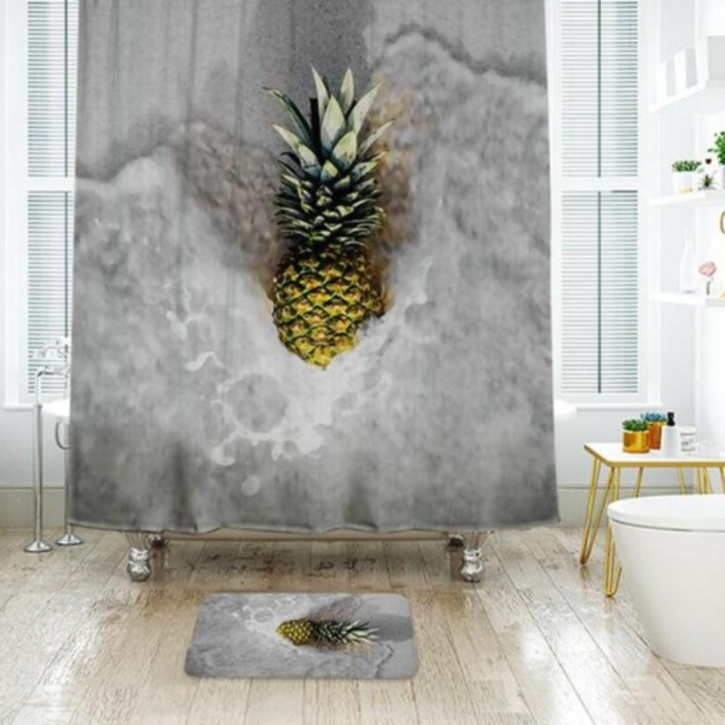 3D Shower Curtain Waterproof Polyester Fabric Bath Curtain